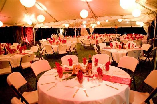 Lance Aux Epines Cottages: reception setup