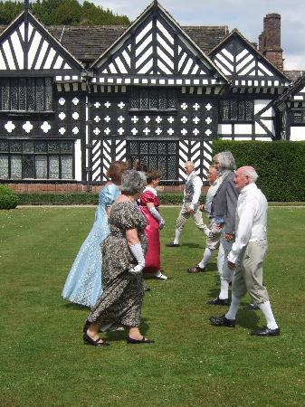 Victorian dancing at Speke Hall Liverpool