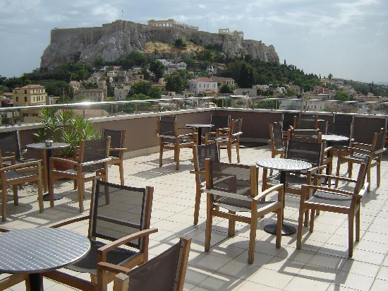 Central Athens Hotel: View from the roof deck