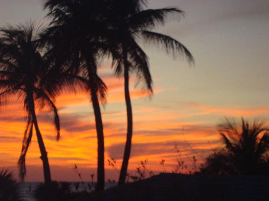 Sandpiper Beach: sunset from condo