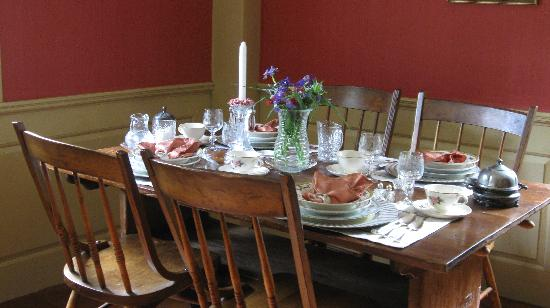 The Daniel Rust House: The Dining Room