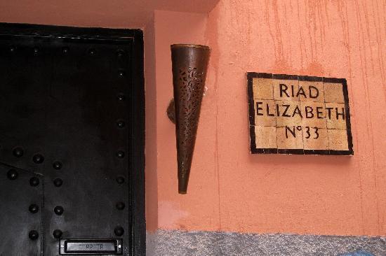 Riad Elizabeth : Entrance