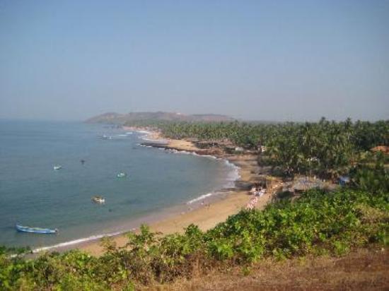 A panoramic view of Anjuna beach