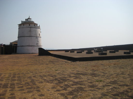 Goa, Hindistan: Lighthouse at Fort Aguada