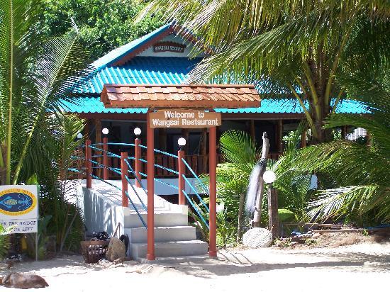 Wang Sai Resort : Eingang vom Strand aus