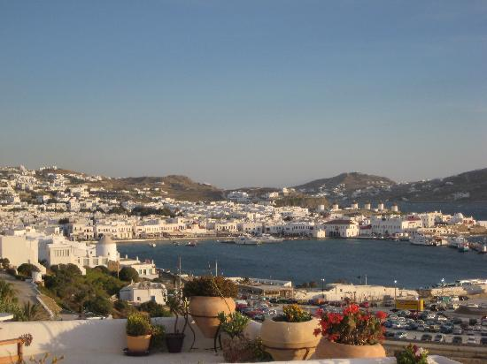 Omiros Hotel: View of Mykonos Town from the Hotel