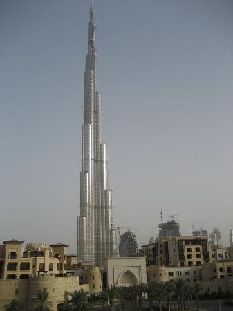 Manzil Downtown: Burj Dubai - morning view from hotel room