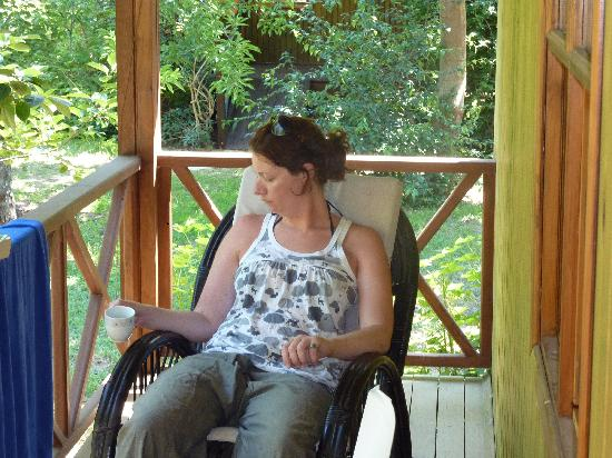 Kibala Hotel: Rocking on the porch