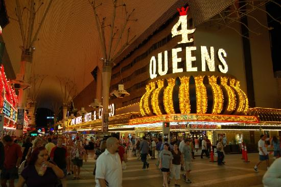 A View Of The Four Queens Hotel From Fremont Street