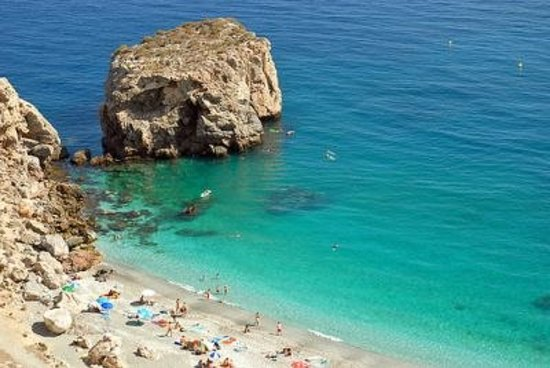 Nerja, Spanien: one of the beaches