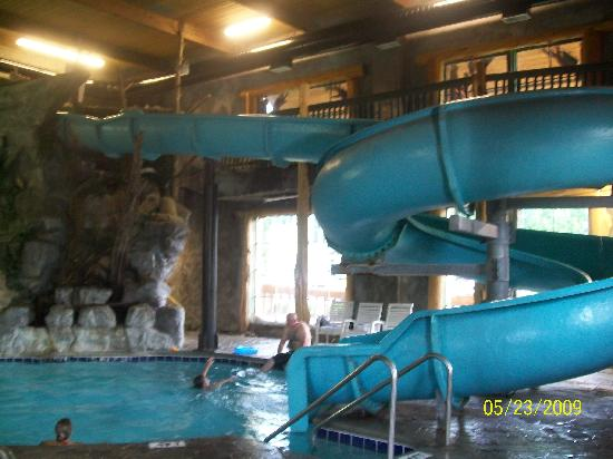 riverchase motel indoor waterslide and pool was awesome water felt like bath water