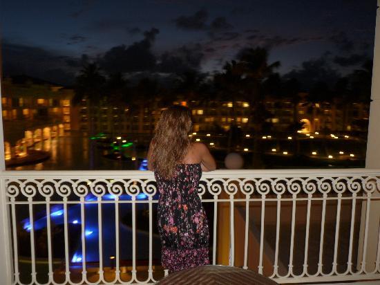 Iberostar Grand Hotel Bavaro: Las vistas desde la terraza de la habitación de noche