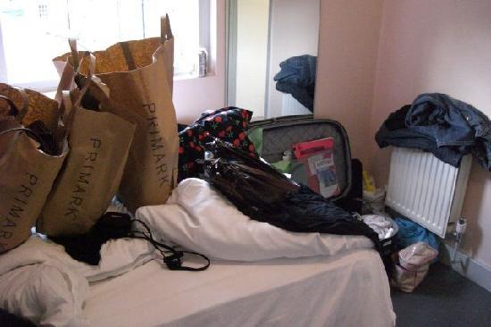 easyHotel Paddington London: unser Zimmer am Tag der Abreise...