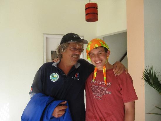 Manta Lodge: Shaun Robinson with our son
