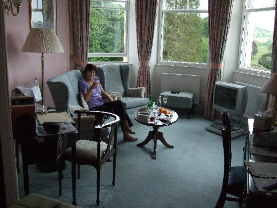 Kirroughtree House Hotel: turret sitting room