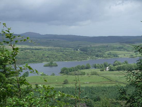 Kirroughtree House Hotel: Loch Ken from Bennan point