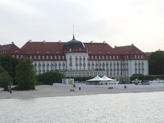 Sofitel Grand Sopot: The back of the hotel