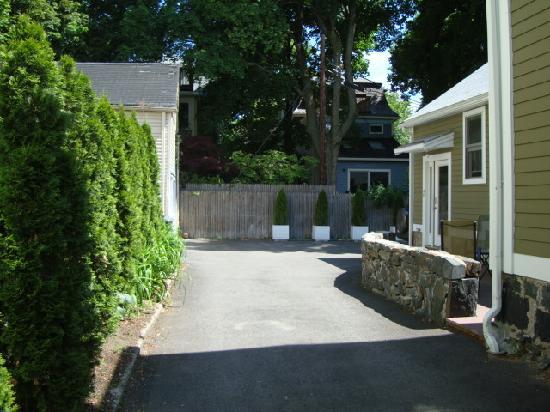 Whitman House: huge driveway