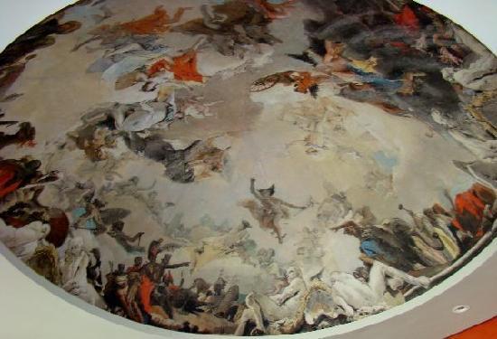 Iberostar Grand Hotel Bavaro: the beautiful ceiling of the italian resteraunt