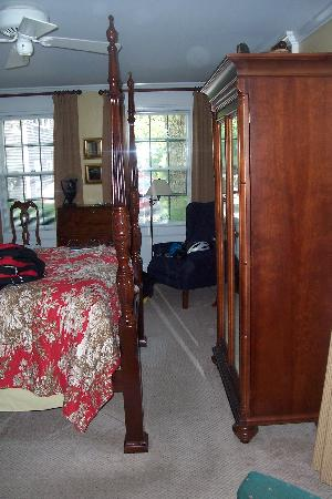 The Inn at Cook Street: foot of bed - armoire