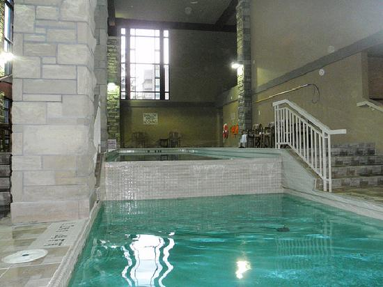 Salt water lap pool and regular pool picture of for Pool spa show niagara falls