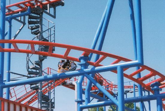 Erie, PA: Steel Dragon spinning car coaster