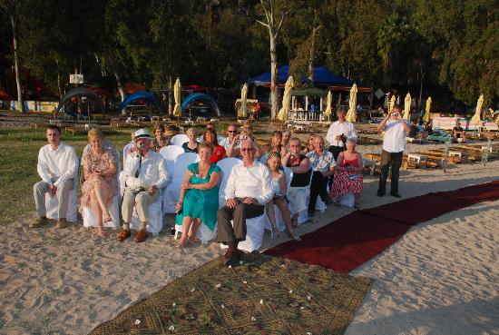 The Sugar Beach Club: Seating for wedding guests