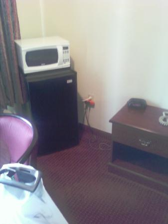 Ramada Limited Augusta/Near Fort Gordon : other side of bed w microwave and refridg.