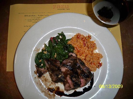 Sebastopol, Kalifornia: Flat Iron Steak from the Zazu Summer Menu