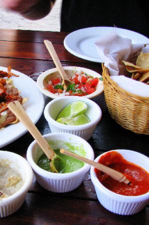Carboncitos: Salsa sampler!
