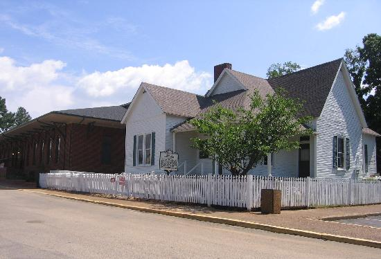 Casey Jones Village: Casey Jones home with new museum complex alongside.