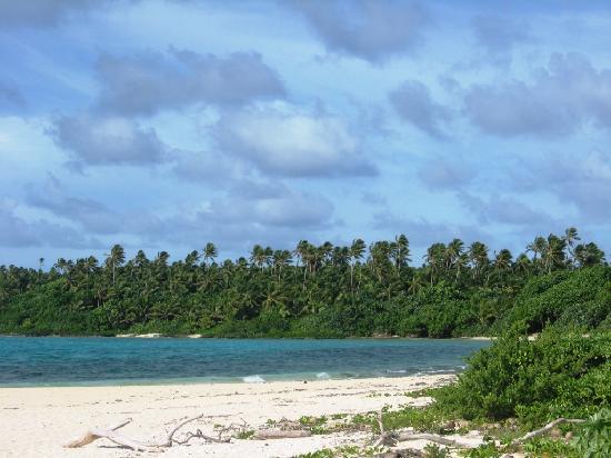 Matafonua Lodge: beautiful but windy beach closest to the fales