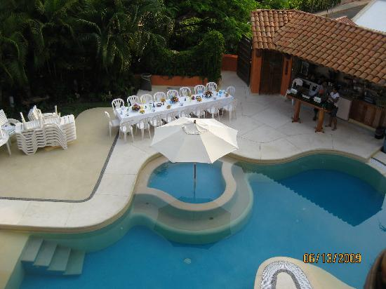 Villa Carolina Hotel: View of Pool From Grand Suite