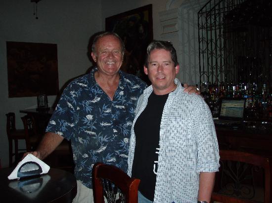 La Perla Hotel: With Jim Petersen at the Hotel Bar