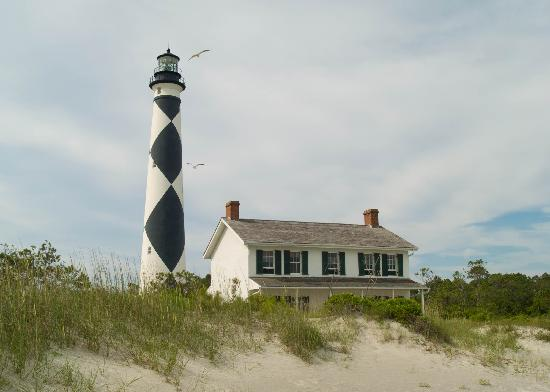 Harkers Island, Caroline du Nord: The Lighthouse and Keepers Quarters
