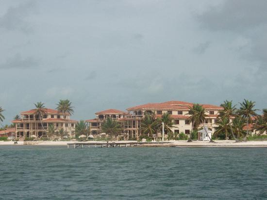 View of Coco Beach Resort from Catameran