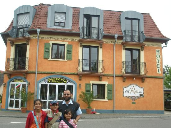 Hotel Casa Rustica: my family in front of casa rustica