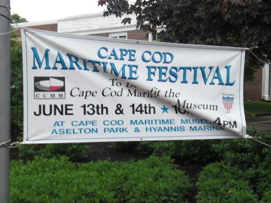 Main Street Hyannis: Sign for the Maritime Festival
