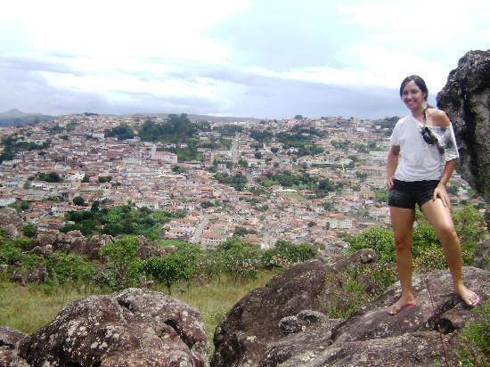Diamantina, MG: Vista de um ponto previlegiado da cidade - de tirar o fôlego!!