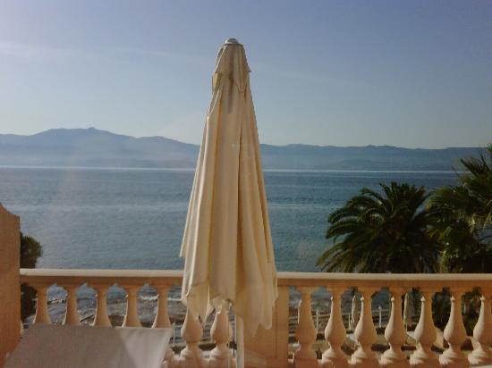 Hotel Les Mouettes : vue de notre terrasse