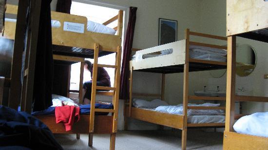 YHA Snowdon Bryn Gwynant: 10 share female dorm, main building, Bryn Gwynant hostel, June, 2009