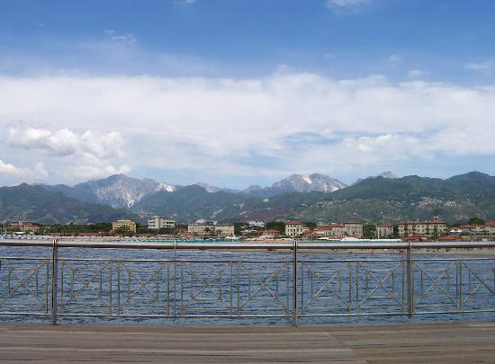 Hotel Andreaneri: View from the Pier at Marina di Pietrasanta