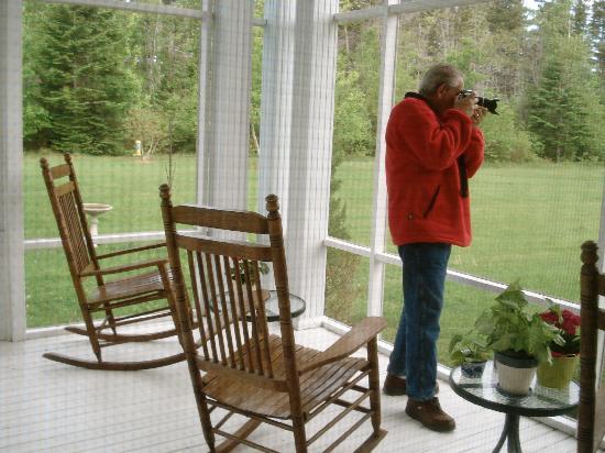Maplehurst Properties: Relaxing on porch