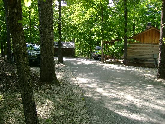 Silver Dollar City's Wilderness : View of road outside our cabin