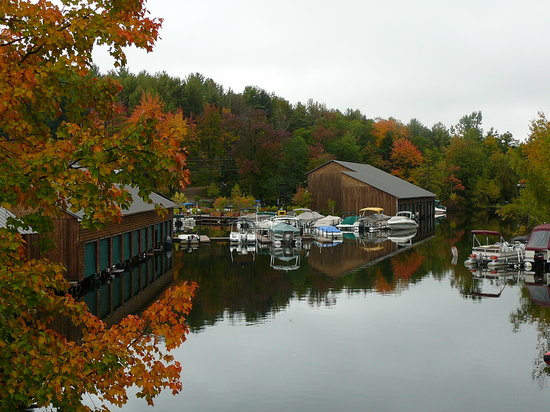 Holderness, NH: Boats on Little Squam Lake