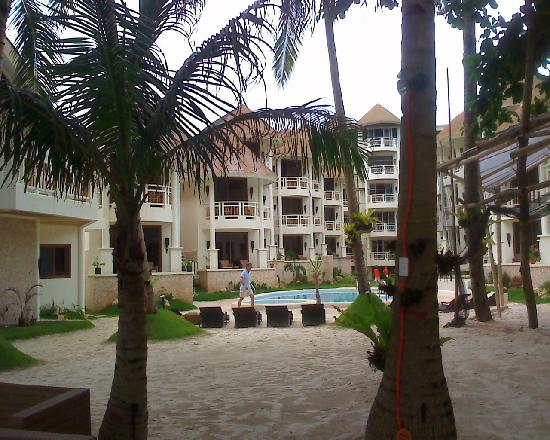 Ambassador in Paradise Resort: Looking back from the beach