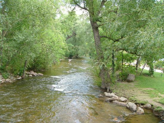 Boulder Creek Path: View of the Creek from bridge