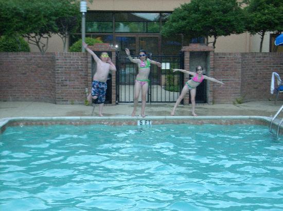 Courtyard Dallas Plano Parkway at Preston Road : Kids enjoying the pool