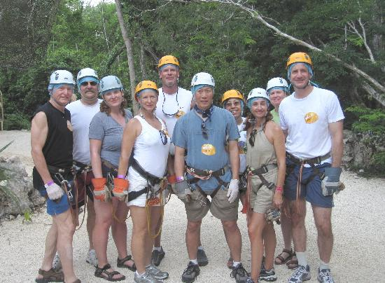 Cancun Vista: The gang is ready to zip.