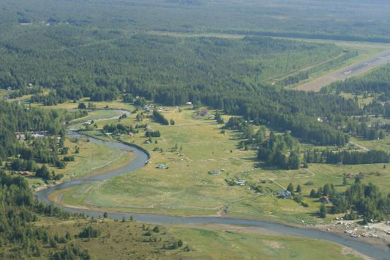 Homestead Bed & Breakfast: Gustavus and Homestead from the air